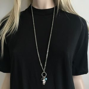 Anthropologie Long Charm Necklace 925 Lucky4Clover